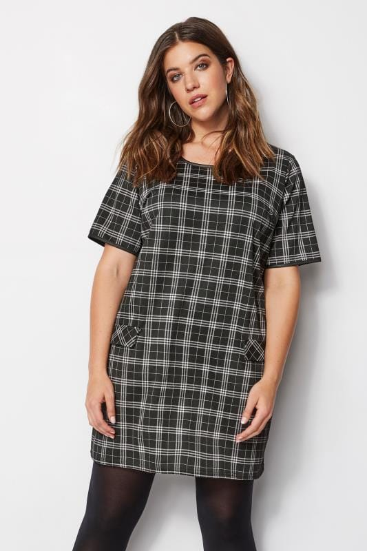 LIMITED COLLECTION Black Check Tunic Dress