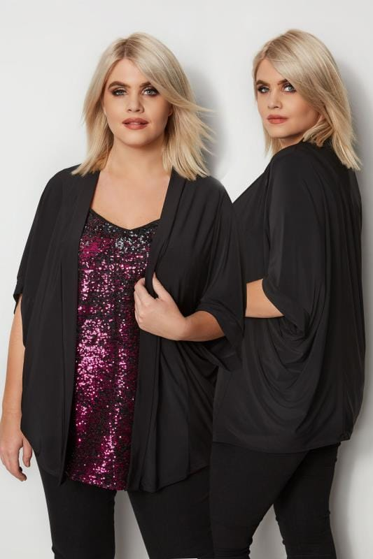 Plus Size Cover Ups Black Cover-Up