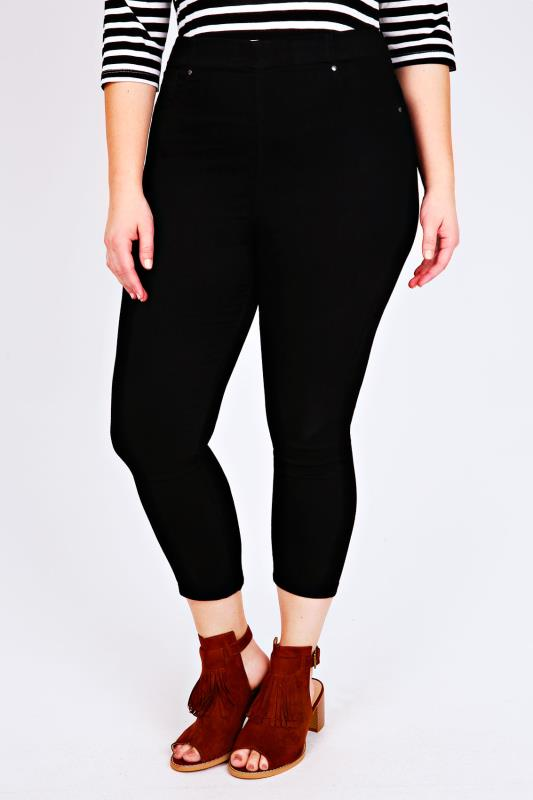 Black Cropped Denim Jegging