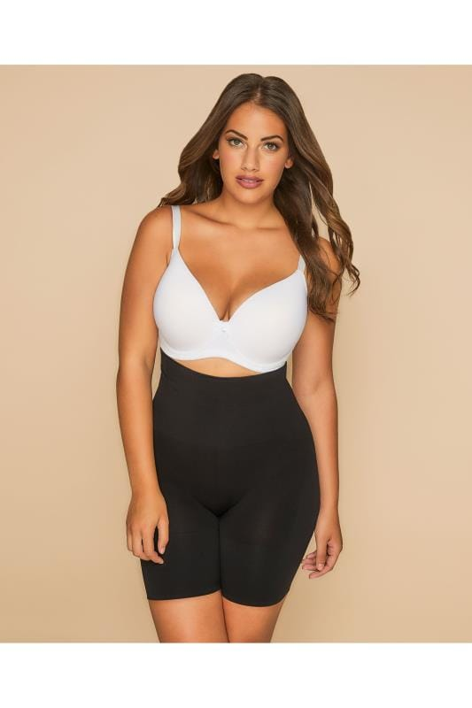 Plus Size Plus Size Shapewear Black Firm Control Seamfree Shaper Short