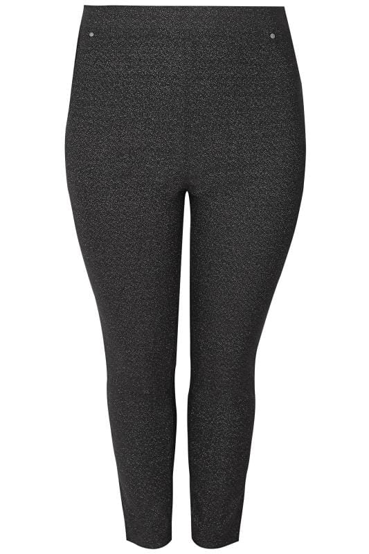 Plus Size Jeggings Black Glitter JENNY Jeggings