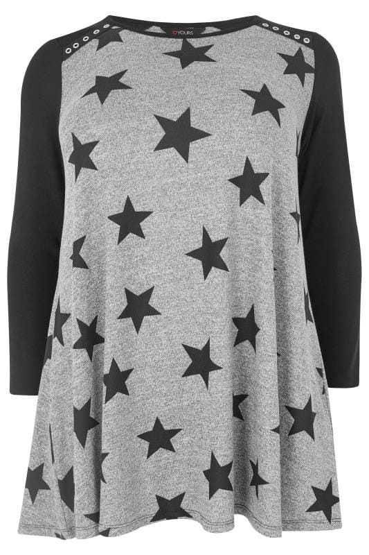 Black & Grey Star Swing Tunic