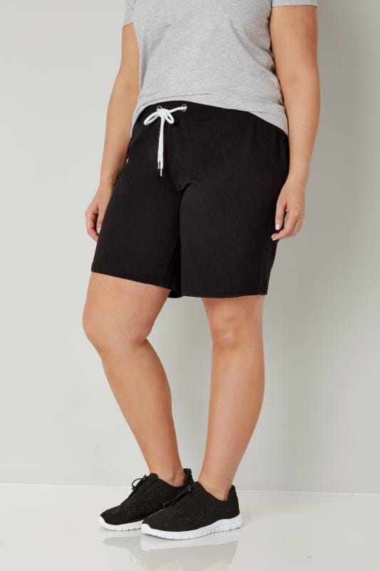 Plus Size Jersey Shorts Black Jersey Shorts
