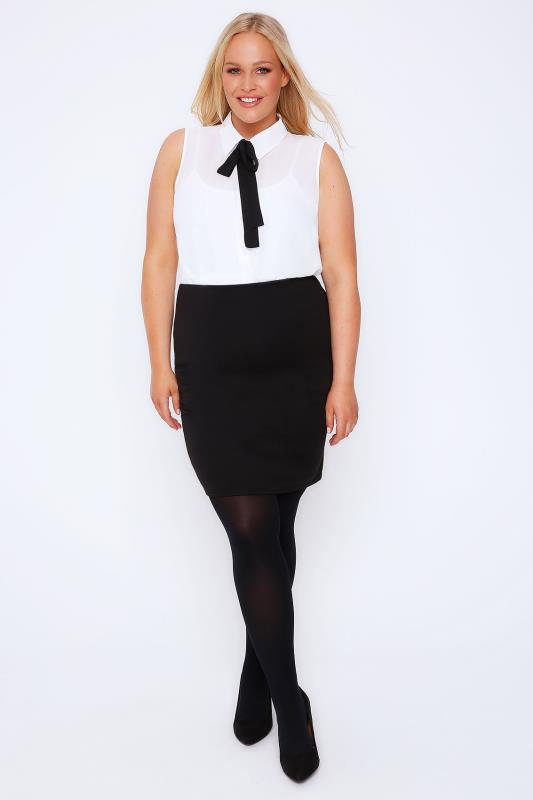 Pencil Skirts Black Jersey Tube Skirt 101877