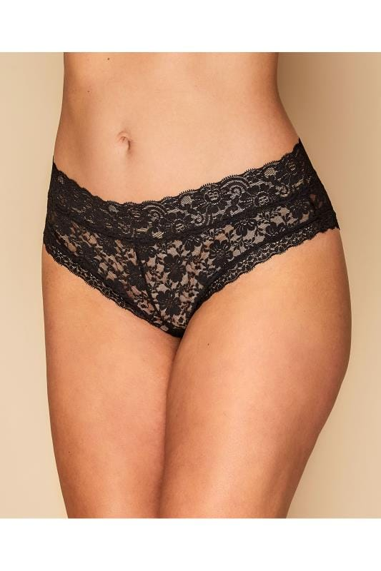 Plus Size Briefs Black Lace Briefs