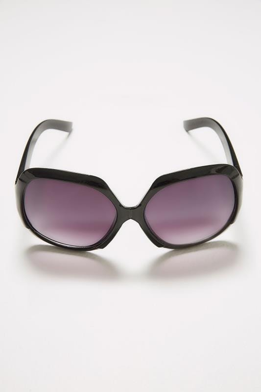 Black Large Square Sunglasses With UV Protection