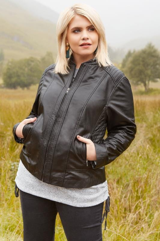 Plus Size Jackets Black Leather Jacket