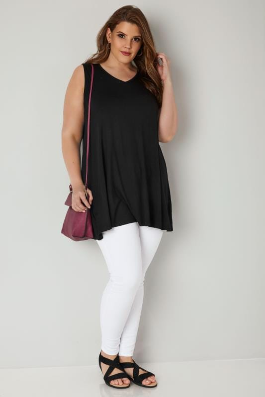 Black Longline Swing Top
