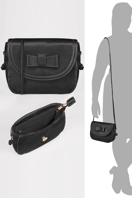 Black Mini Bow Cross Body Bag
