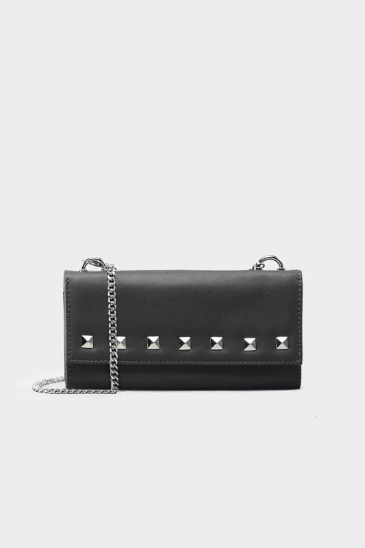 Black Mini Stud Cross Body Bag