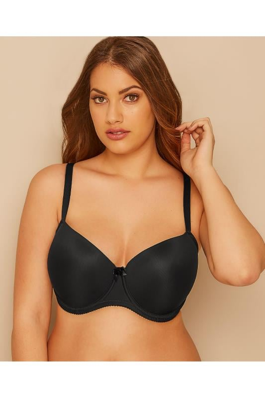 Plus Size Plus Size T-shirt Bras Black Moulded T-Shirt Bra - Best Seller