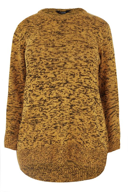 Black & Mustard Twist Knitted Jumper