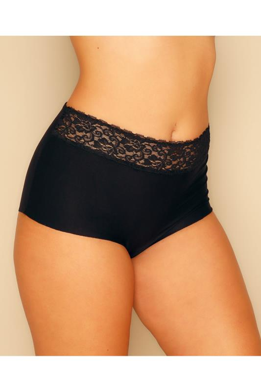 Black No VPL Brief With Lace Trim