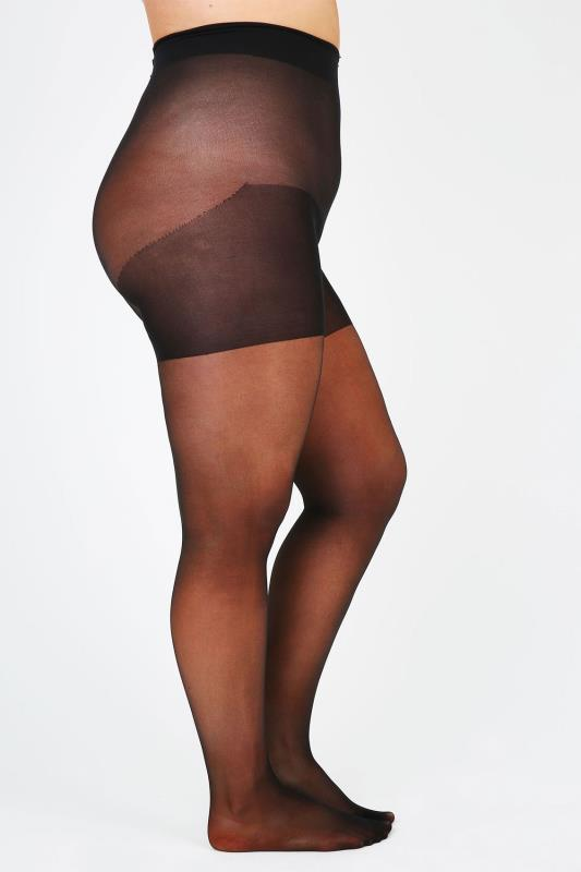 Black Opaque Xceptionelle 20d 3D Ladder Resistant Tights