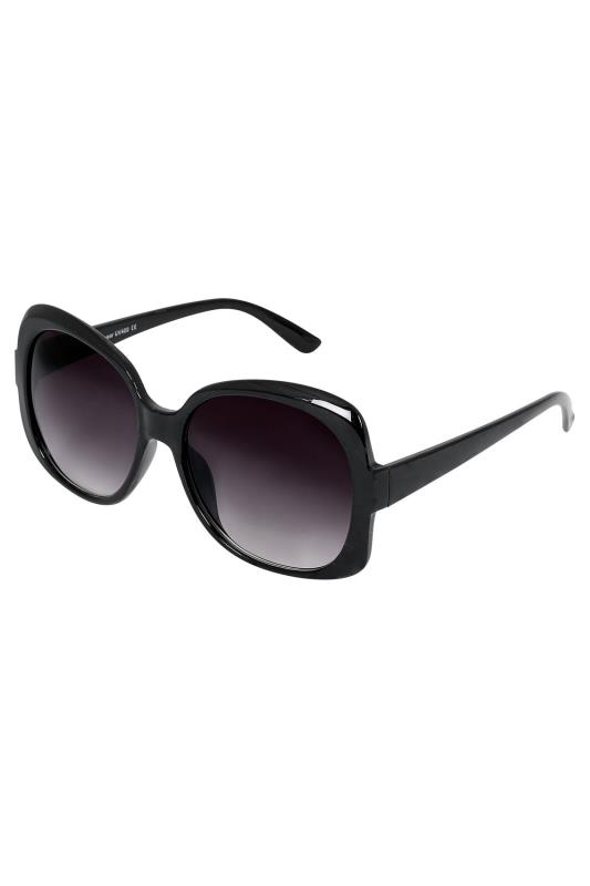 Black Oversized Sunglasses With UV 400 Protection