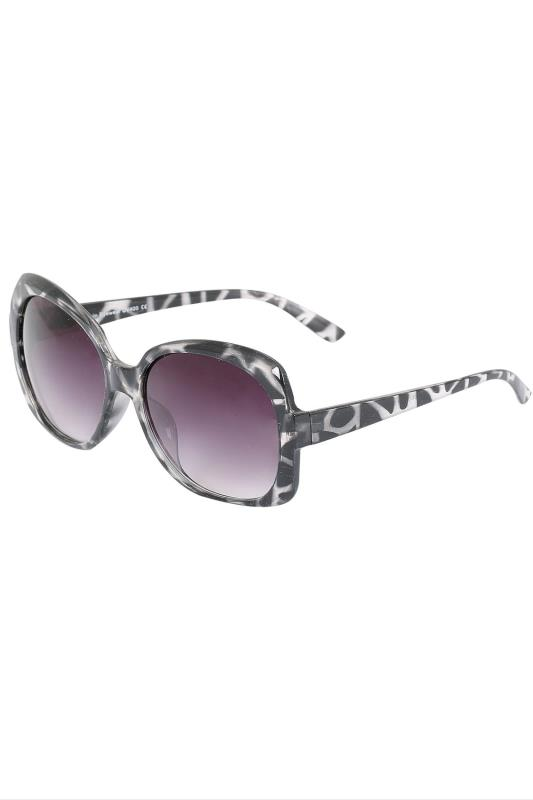 Black Oversized Tortoiseshell Sunglasses With UV 400 Protection
