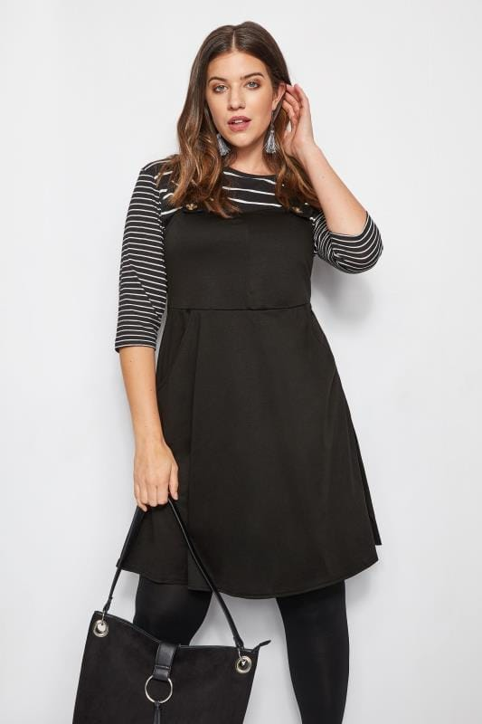 cd2a41cf4346 Plus Size Black Dresses Black Pinafore Dress · Basket Buy