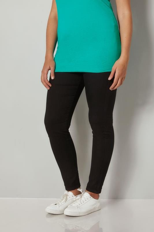 Plus Size Jeggings Black Pull On Super Stretch JENNY Jeggings