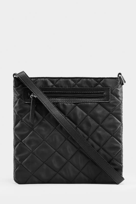 Plus Size Bags & Purses Black Quilted Cross Body Bag