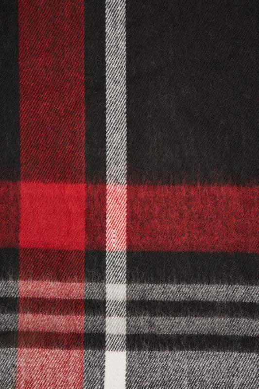 Black & Red Check Blanket Scarf