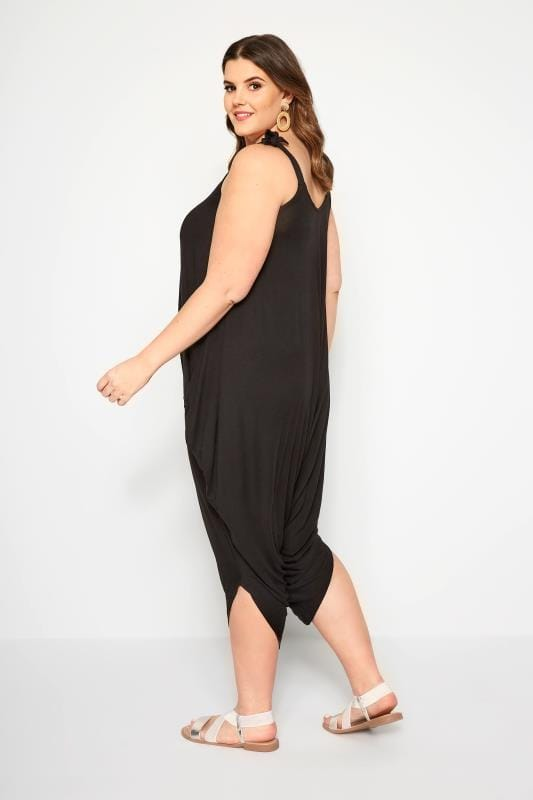 Black Relaxed Jersey Jumpsuit