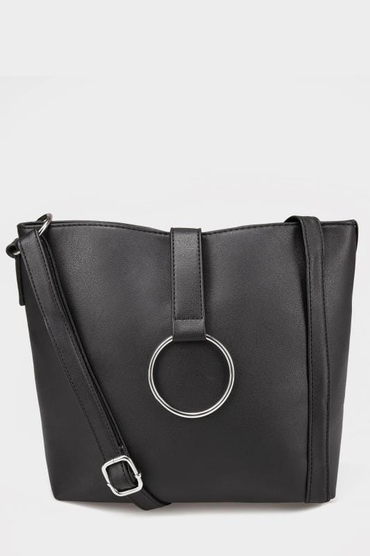 Black Shoulder Ring Bag