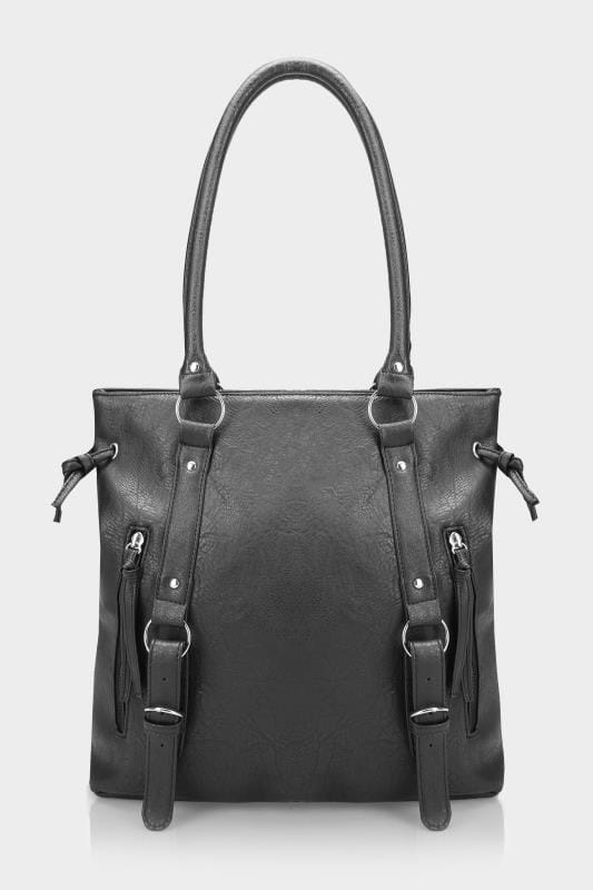 Black Zip Shoulder Bag