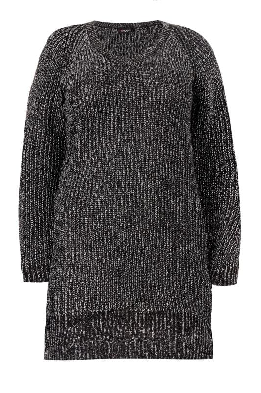 Black & Metallic Chunky Knit Jumper