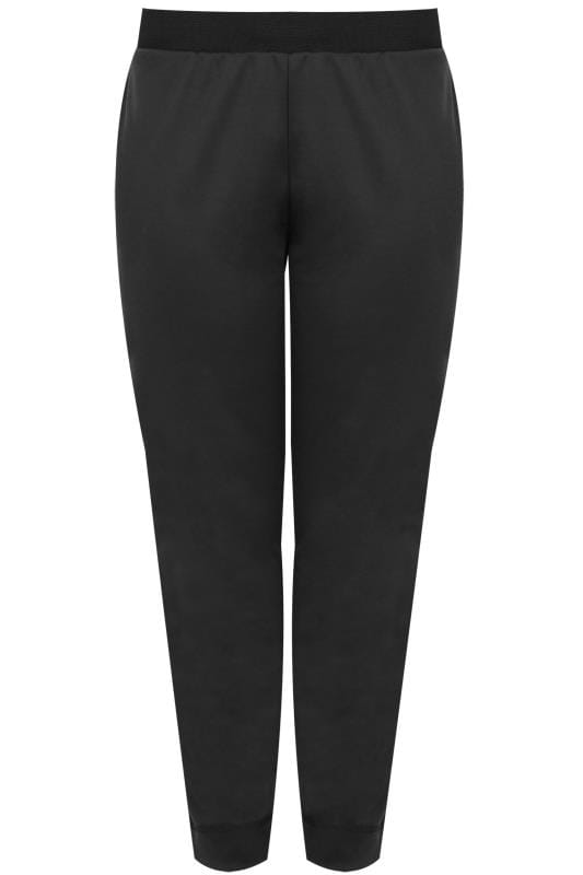 Black Harem Trousers With Elasticated Waistband