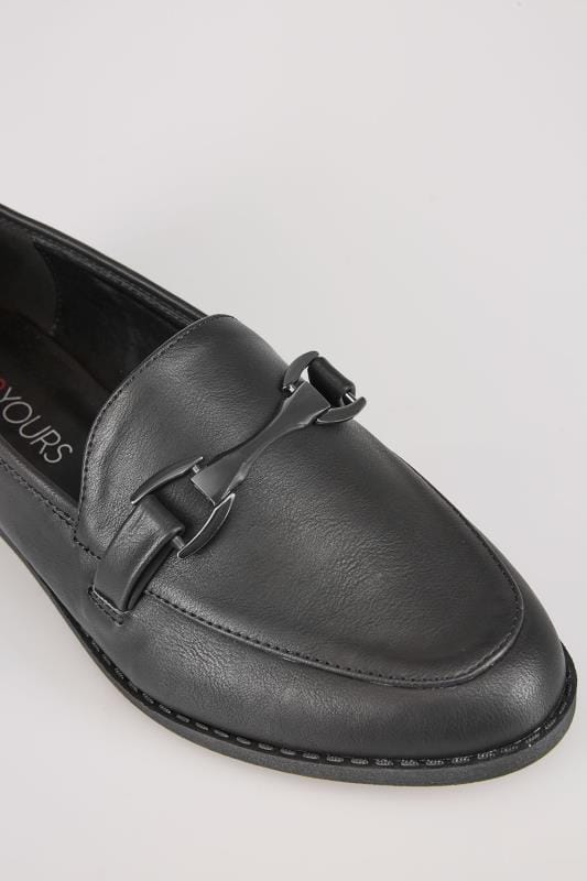 Black Slip On Loafers In TRUE EEE Fit
