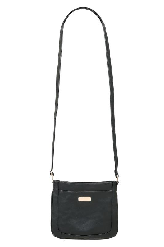 Bags & Purses Black Small Cross Body Shoulder Bag 152213