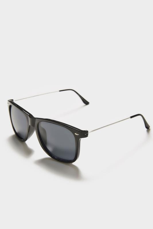 Plus Size Sunglasses Black Square Frame Sunglasses With UV Protection