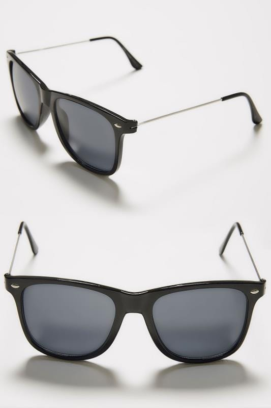 Black Square Frame Sunglasses With UV Protection