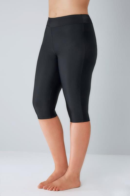 Black Stretch Swim Shorts