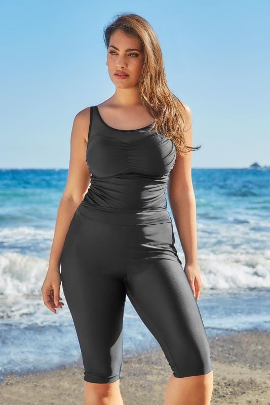 Black Stretch Swim Shorts Plus Sizes 16,18,20,22,24,26,28 -6365