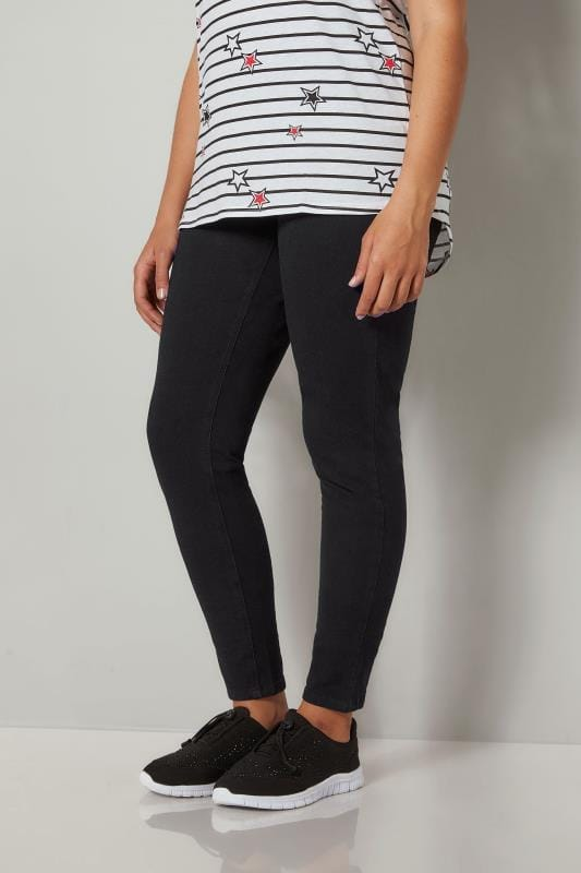 Jeggings Grande Taille Jeggings JENNY Noir Extensible