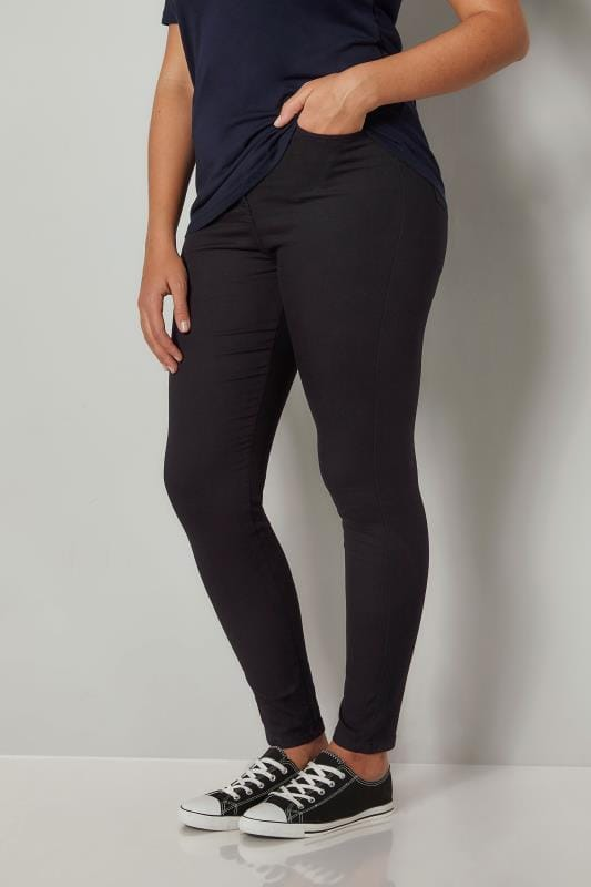 Black Super Stretch Skinny AVA Jeans