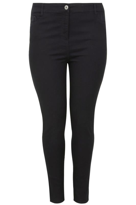 Black Skinny Stretch Ava Jeans Plus Size 16 To 28