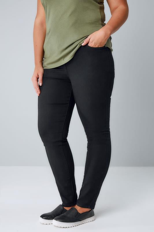 Plus Size Skinny Jeans Black Super Stretch Skinny AVA Jeans