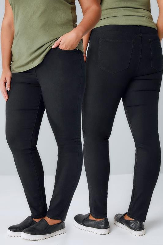Skinny Jeans Black Super Stretch Skinny AVA Jeans 050995