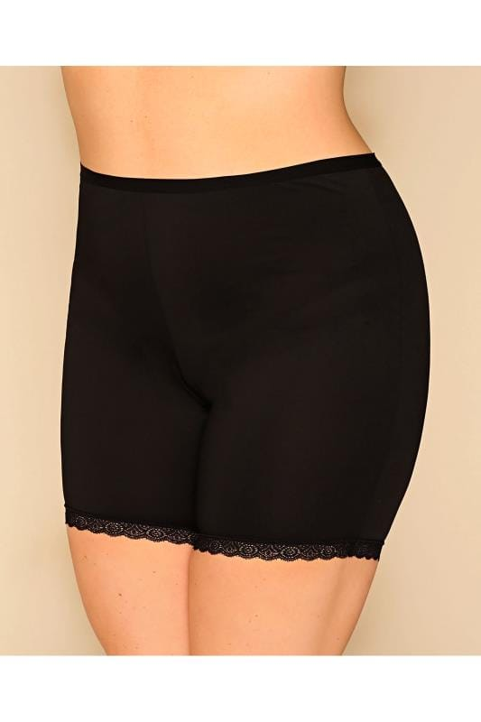 Plus Size Briefs & Knickers Black Thigh Smoother Brief