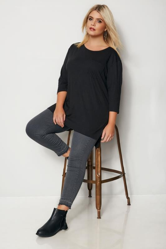 Black Top With Chest Pocket