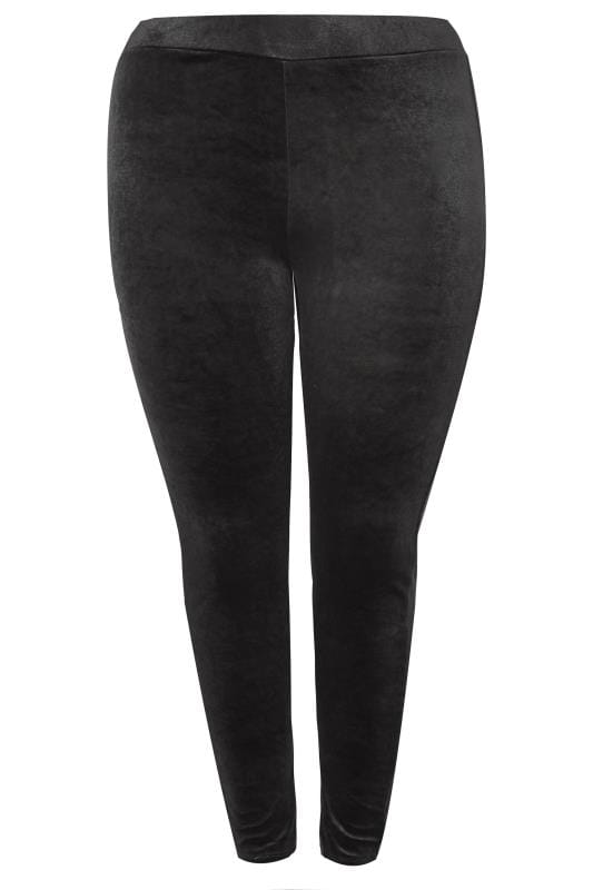 Plus Size Fashion Leggings Black Velvet Leggings