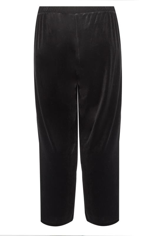 Black Velvet Wide Leg Trousers