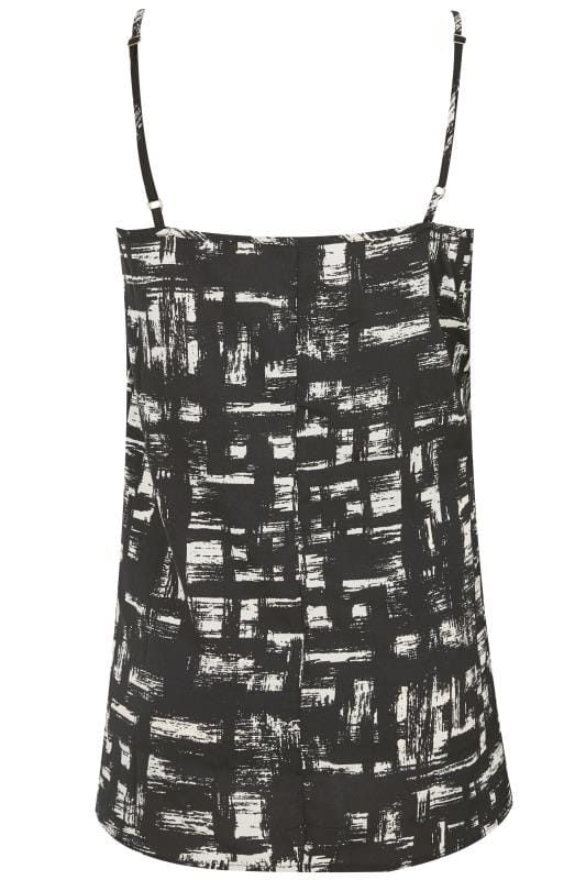 Black & White Brushed Woven Cami Top