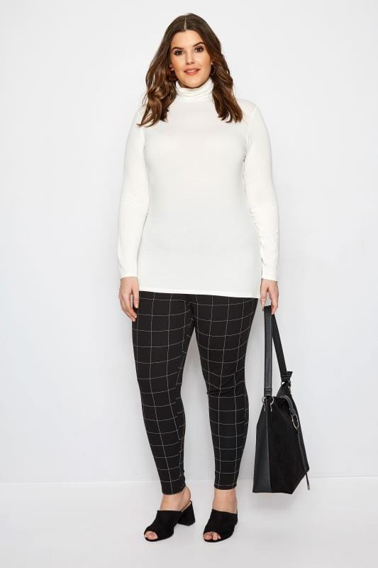 Black & White Check Treggings