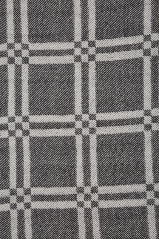 Black & White Monochrome Check Blanket Scarf