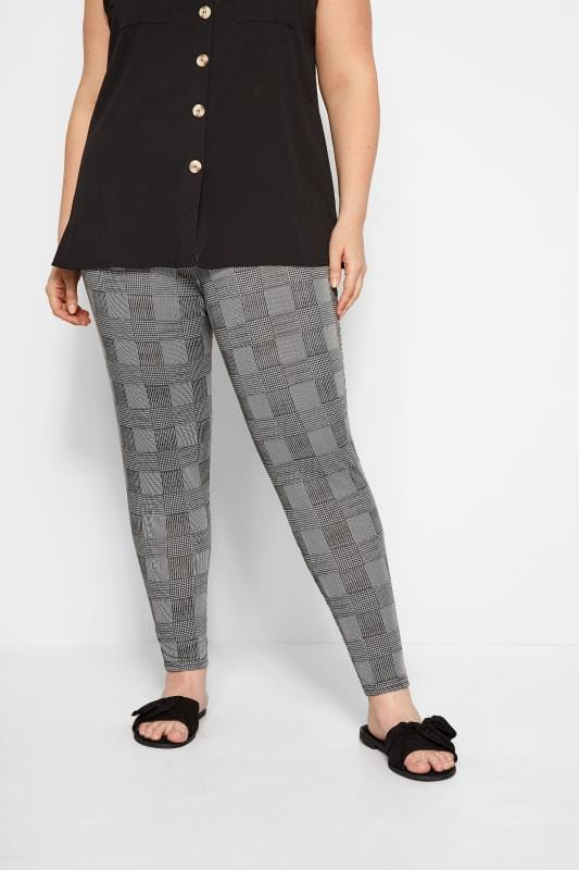 Black & White Prince of Wales Check Trousers