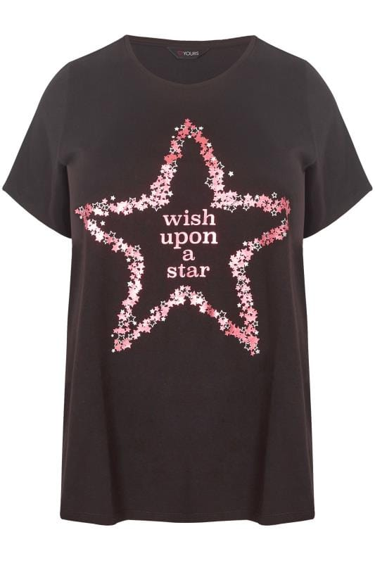 Black 'Wish Upon A Star' Pyjama Top