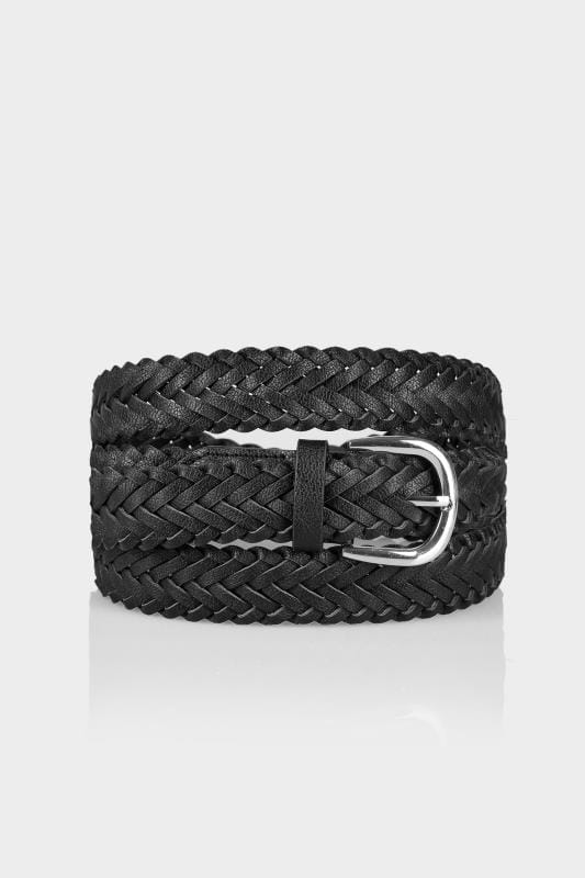 Plus Size Belts Black Woven Belt